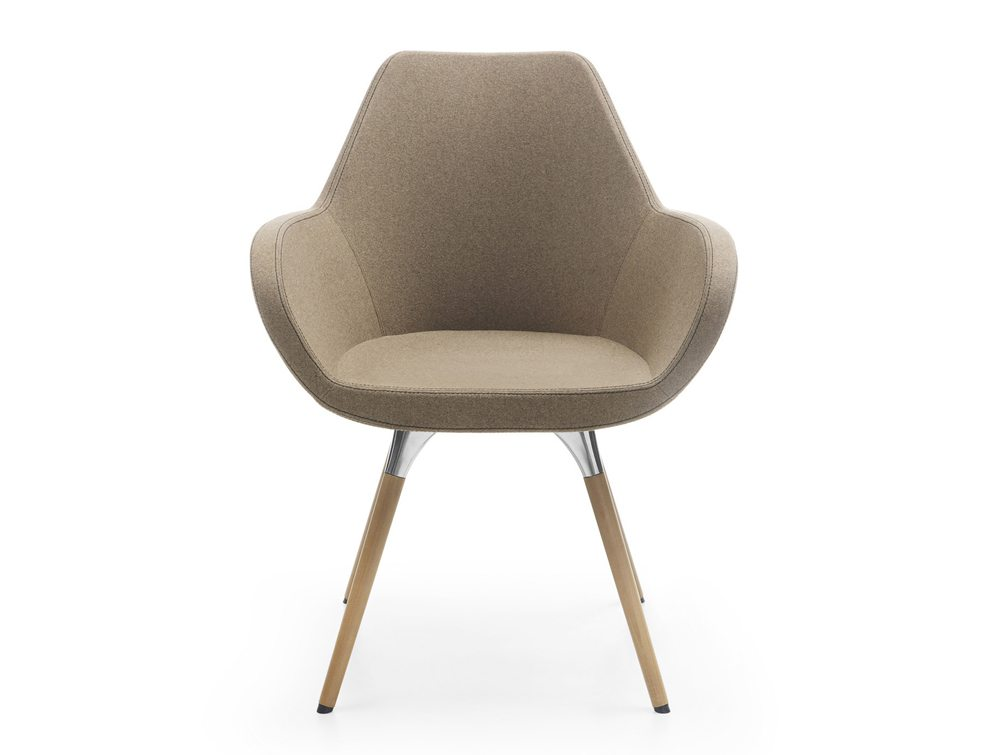 Profim Fan Armchair Wood Base