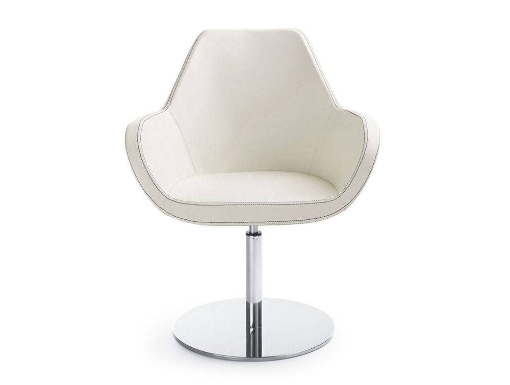 Profim Fan Armchair in White Round Base