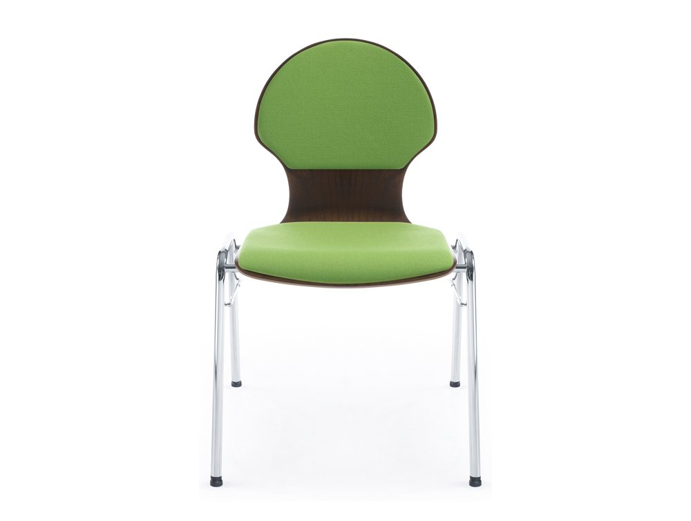 Profim Ligo Plywood Conference Chair with Cushions in Green