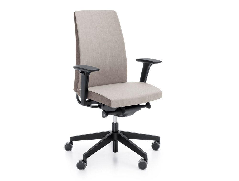 Profim Motto Ergonomic Chair Bicolour Beige and Brown with Adjustable Armrest Seat and Castor Wheels