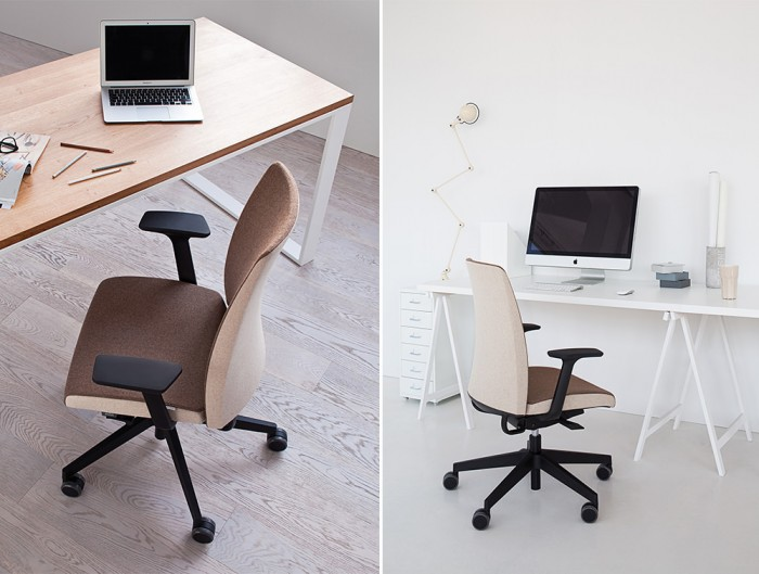 Profim Motto Ergonomic Chair for Home or Office Working Space Two Colour Finishes Biege and Brown