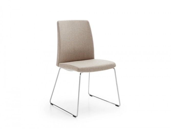Profim Motto Reception Chair with Wire Base in Beige Finish