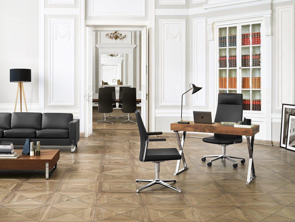 Profim MyTurn Executive Boardroom Chair Medium Back in an Office