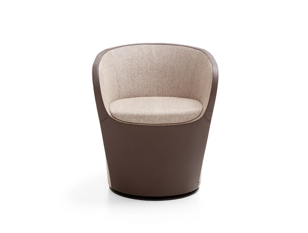 Profim Nu Spin Soft Seating Swivel Chair in Brown for Offices Spaces or Hotel Foyers