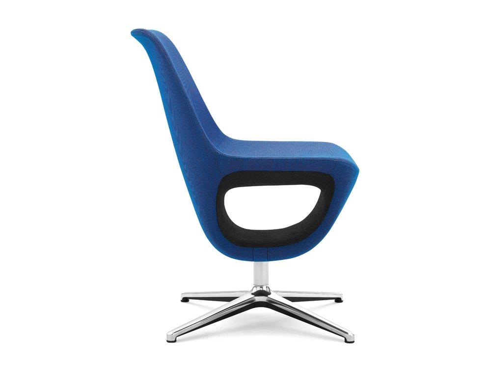 Profim Pelikan Armchair with Shelf Side Angle