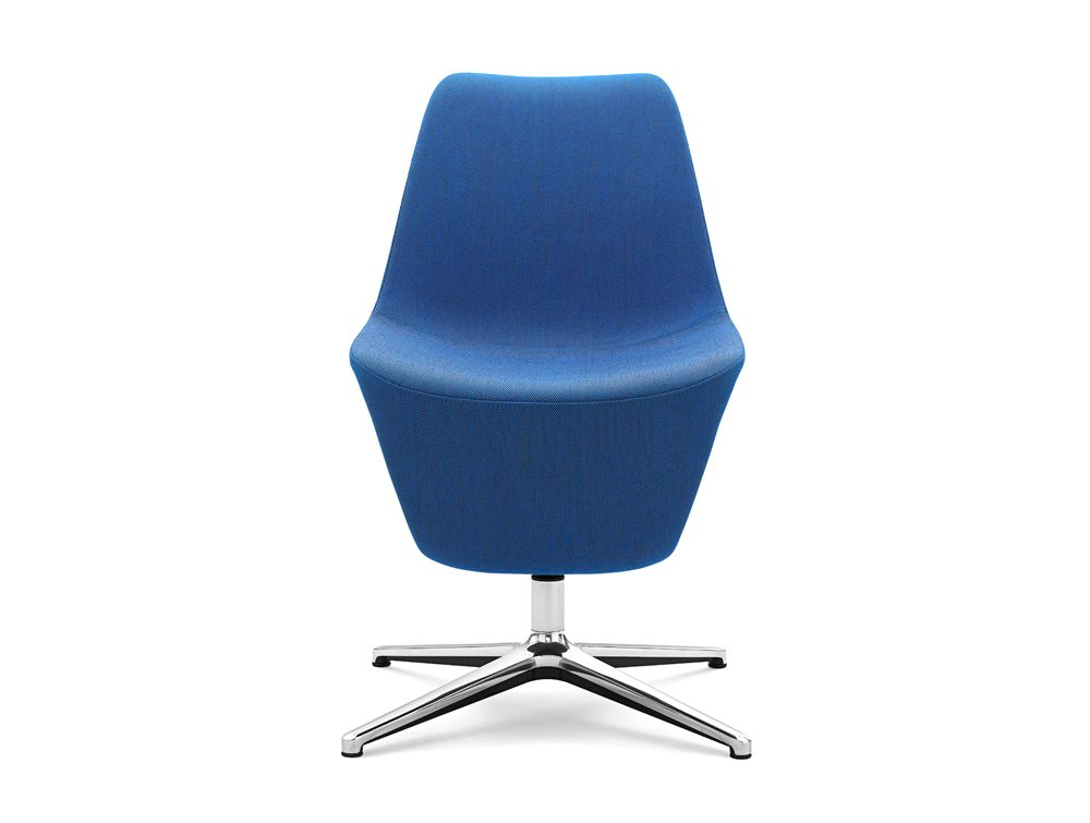 Profim Pelikan Armchair with Shelf in Blue Front Angle