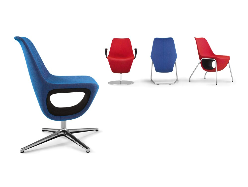 Profim Pelikan Armchair with Shelf in Different Angles