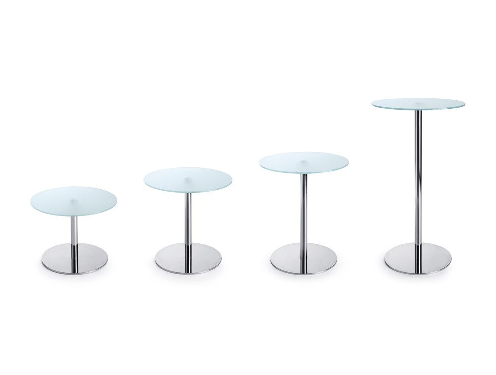 Profim SR Round Base Table in Tempered Glass