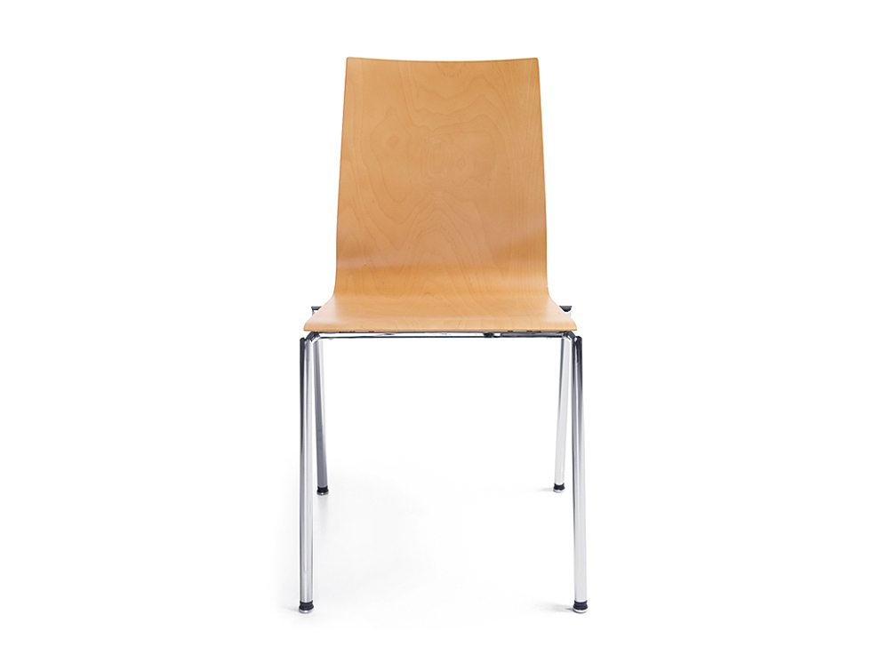 Profim Sensi Conference Chair Chrome Legs Front Angle