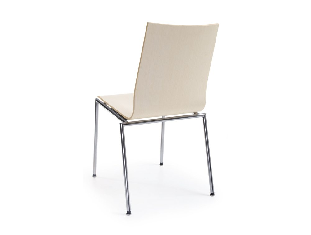 Profim Sensi Conference Chair Chrome Legs in White Back Angle