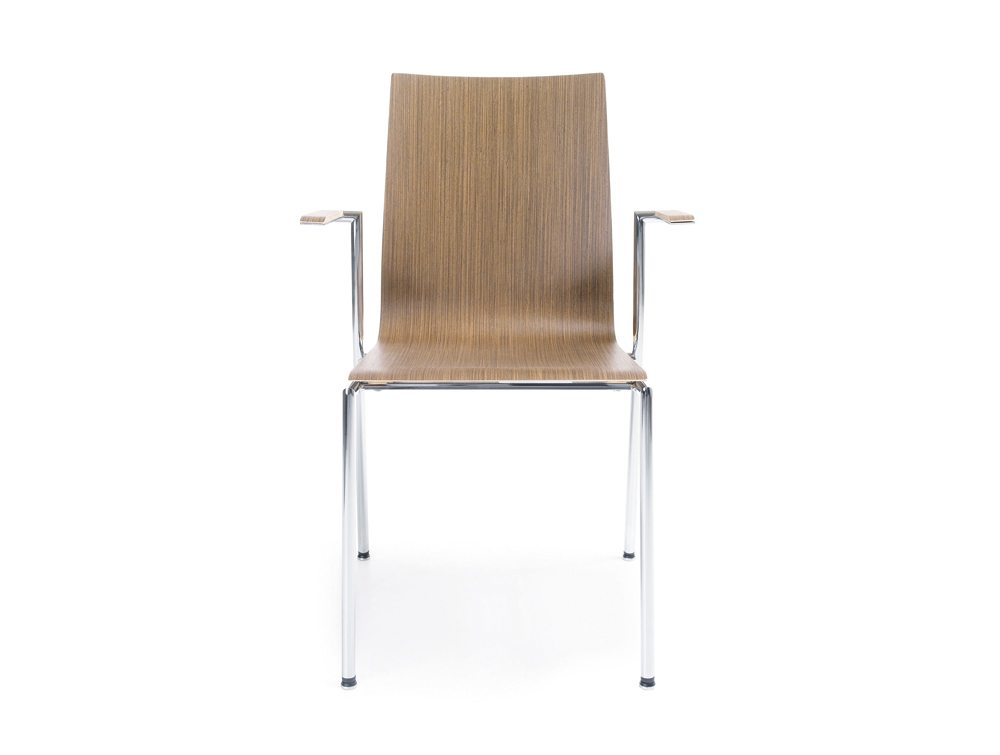 Profim Sensi Conference Chair With Armrest Chrome Legs Front Angle Jpg