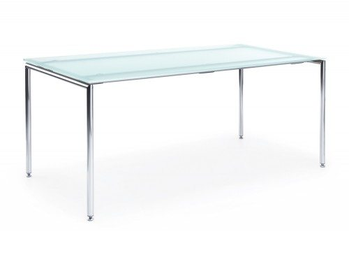 Profim Sensi Table with Chrome Legs in Glass
