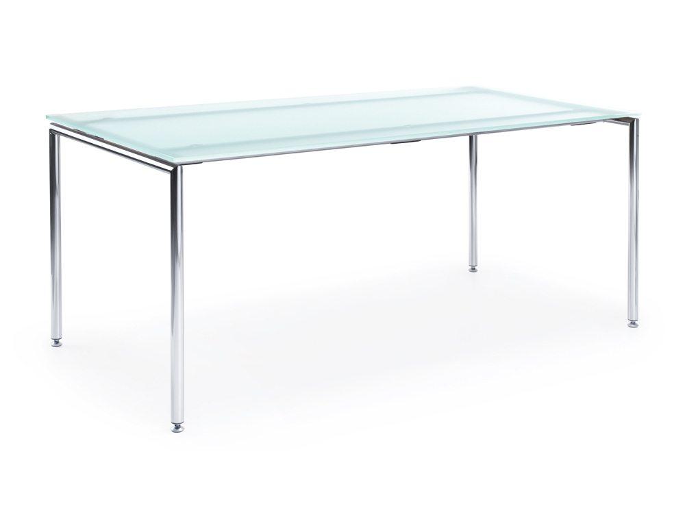 Profim Sensi Table with Chrome Legs in Glass
