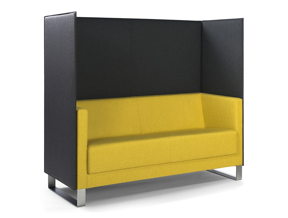 Profim vancouver lite yellow couch with black screen