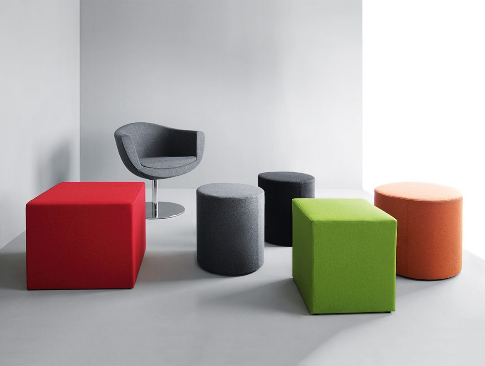Profim Vancouver Oto Pouffe and Tables different shapes and colours