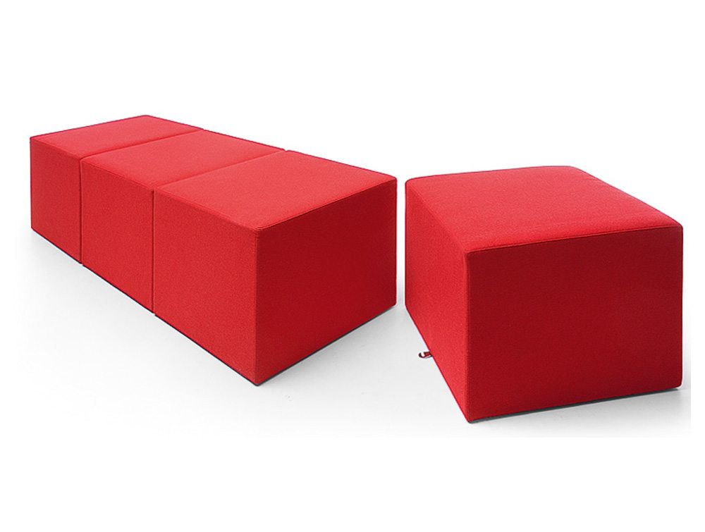 Profim Vancouver Oto Pouffe and Tables in Red