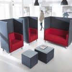 Profim Vancouver Oto Pouffe and Tables in an Office Environment