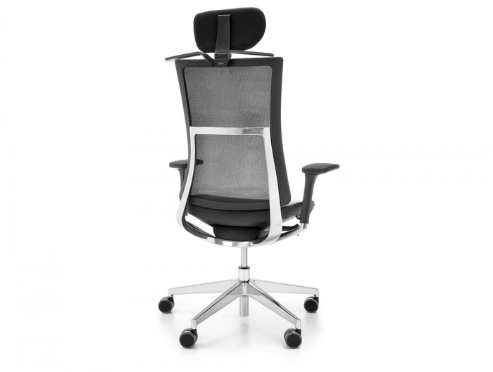 Profim Violle Executive Chair with Aluminium Frame and Hanger for Coat