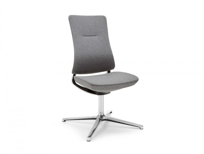 Profim Violle Executive Meeting Room Chair with Upholstered Back and Base with Glides