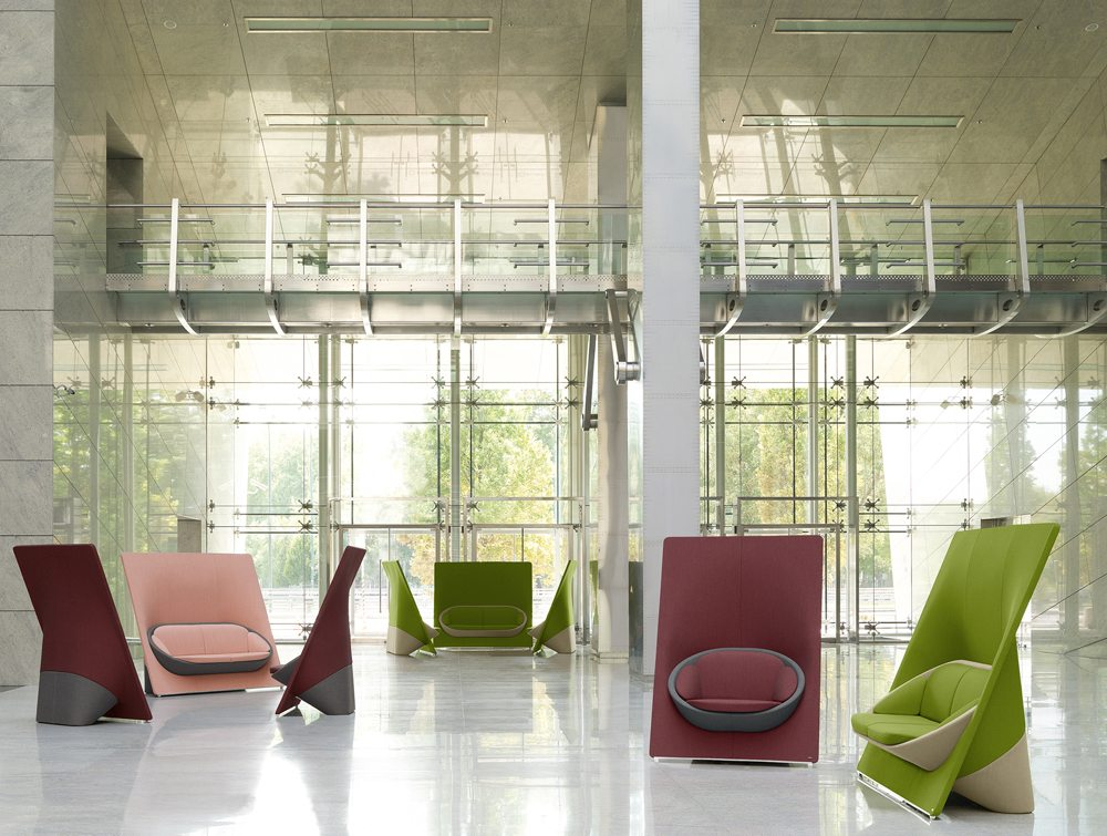 Profim Wyspa Armchair and Sofa View in an Office