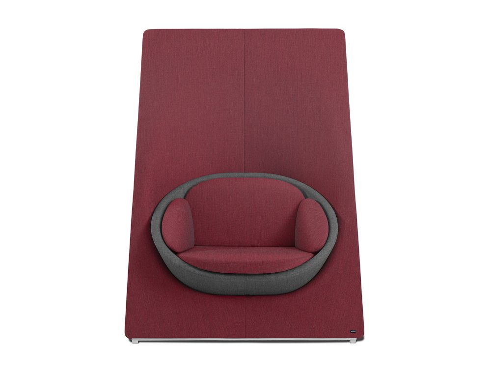 Profim Wyspa Armchair and Sofa in Violet Front Angle