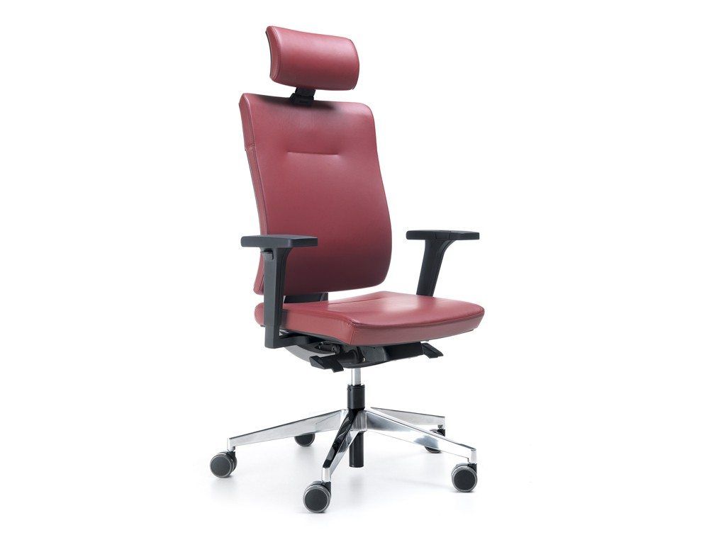 Profim Xenon Adjustable Ergonomic Chair with Headrest in Leather
