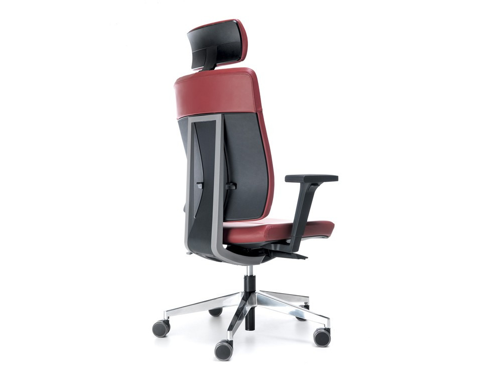 Profim xenon pink leather with headrest back angle
