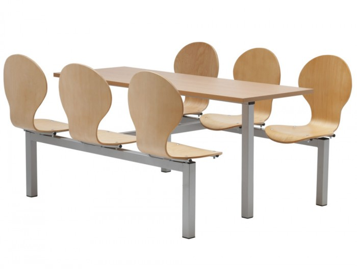 Purston Fast Food Fixed Furniture Set Six Seaters Double Entry