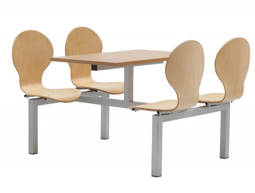 Purston Fast Food Restaurant Seating Four Seaters Double Entry