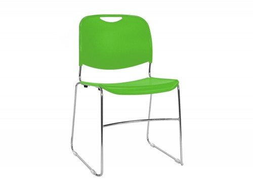 RM300G Reach Stackable Sled Chair in Fresh Green