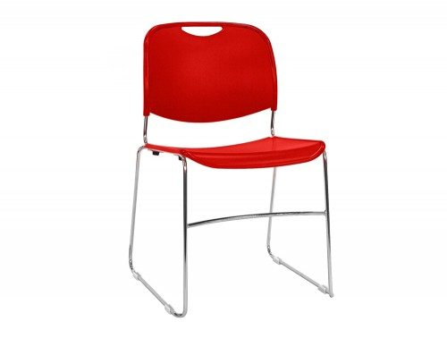 RM300R Reach Stackable Sled Chair in Bright Red