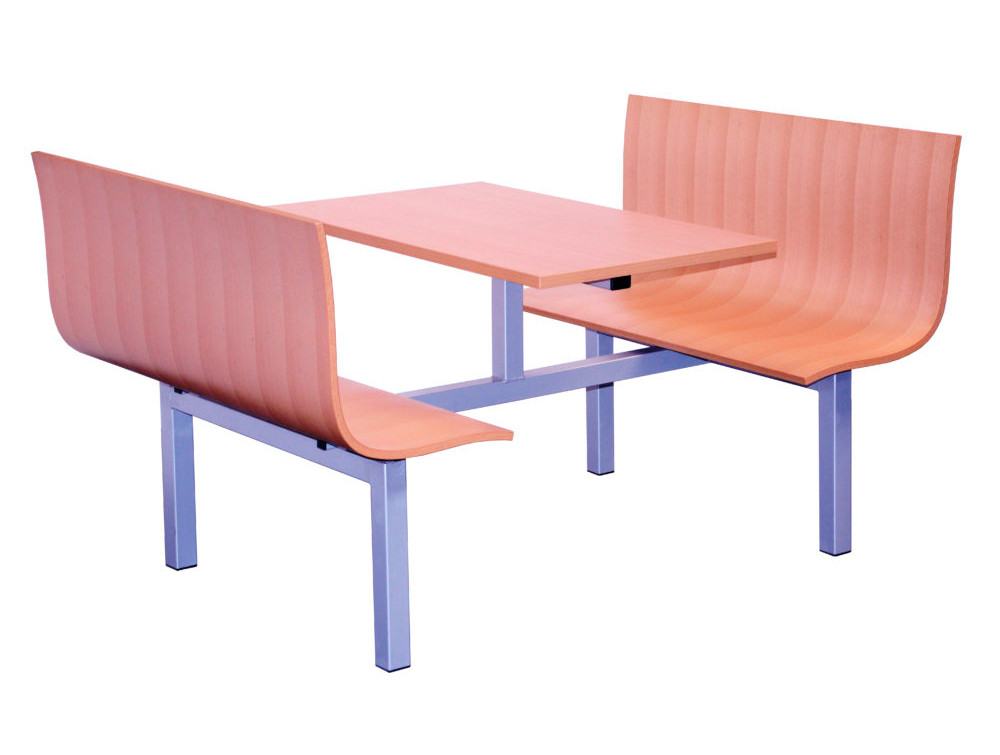 Radstone Fast Food Fixed Furniture Set Four Seaters Double Entry