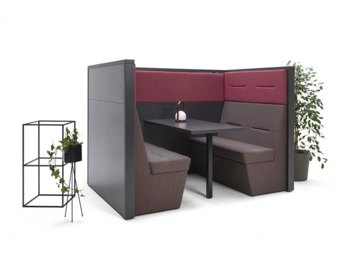 Railway-Carriage-Wooden-Framed-Acoustic-Hub-with-Table-in-Shade-of-Purple