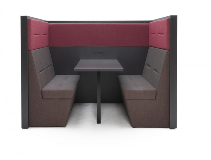 Railway-Carriage-Wooden-Framed-Acoustic-Meeting-Pod-with-Power-Module-Banquette-Table