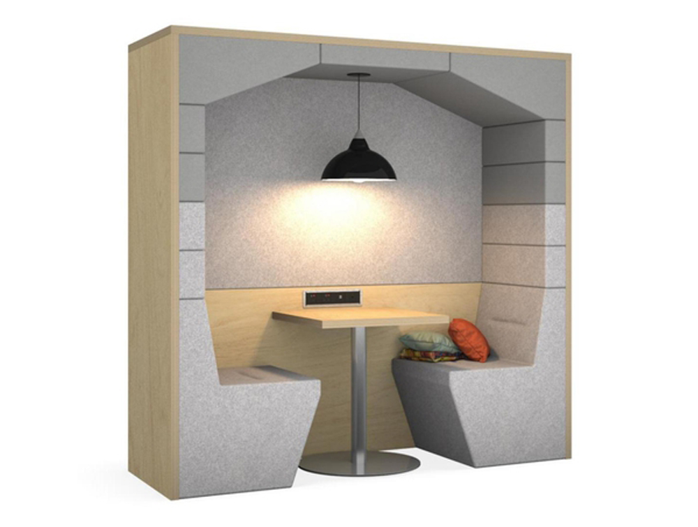 Railway-Carriage-Wooden-Framed-Acoustic-Meeting-Point-Grey-with-Pendant-Light-Power-Module-and-Cushion