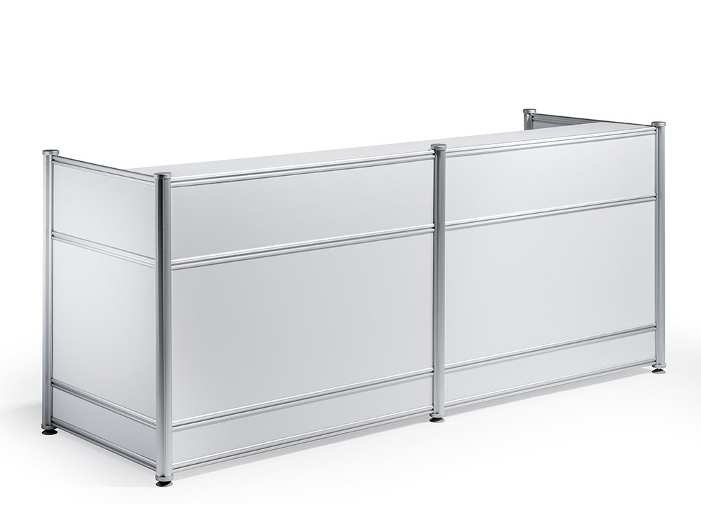 Reception Desk High Gloss White Featured Image