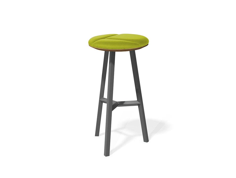 Relic hotdesking table long round stool