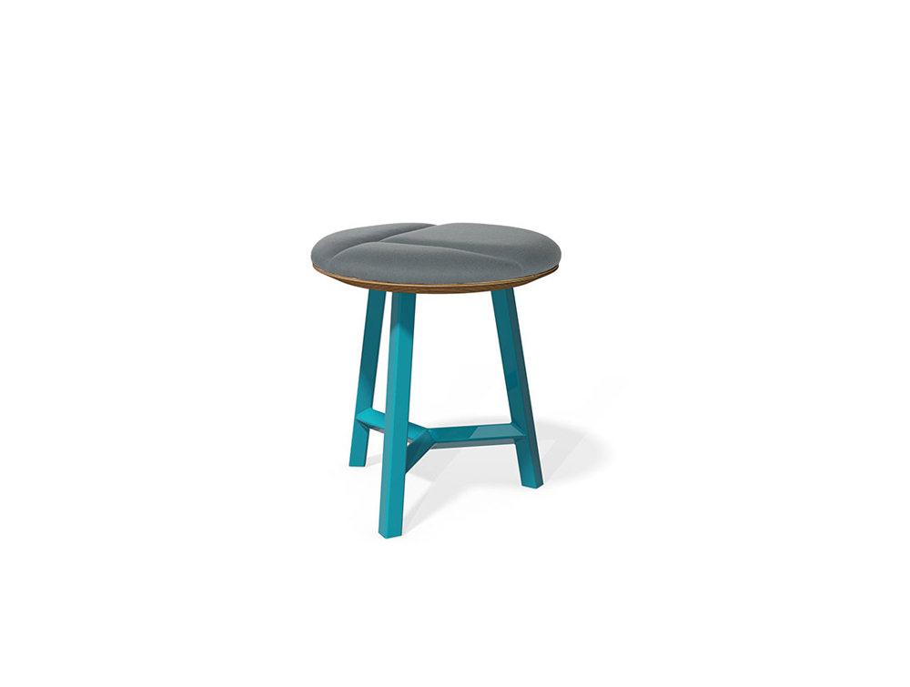 Relic hotdesking table short round stool
