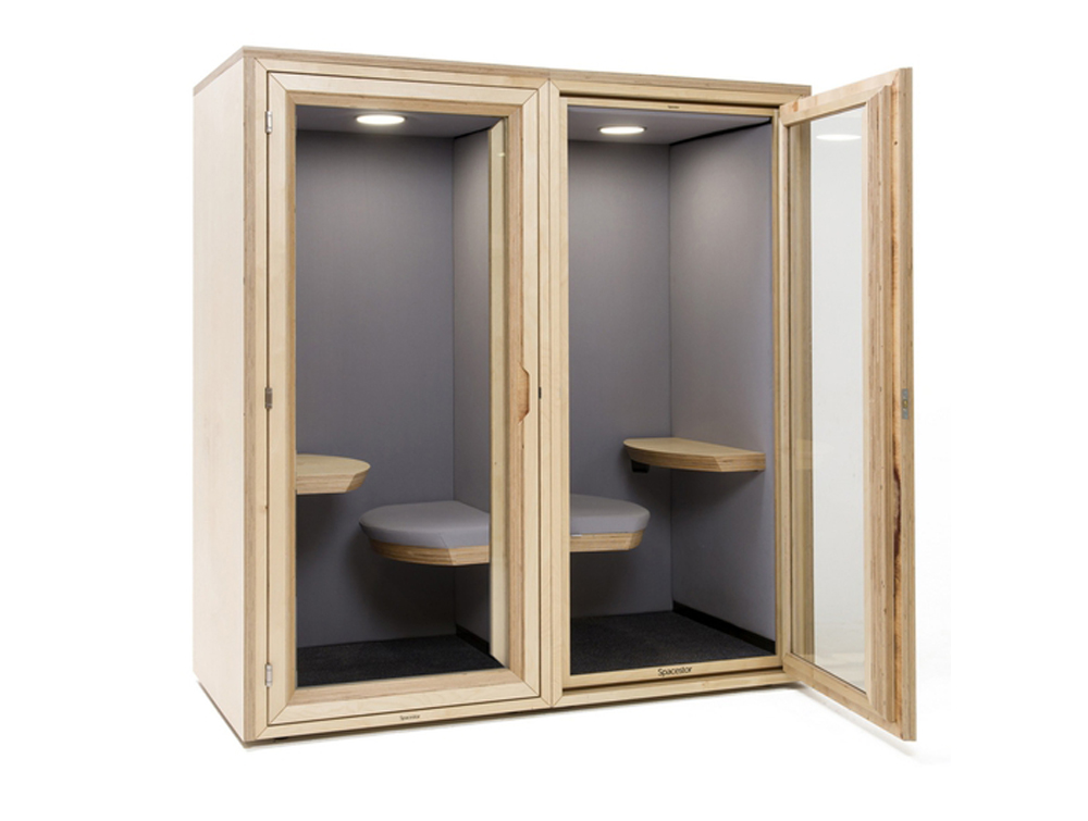 Residence-Work-Wooden-Box-Soundproof-Pod-with-Seat-and-Tablet