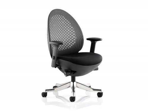 Revo Task Operator Chair Black Shell Charcoal Mesh With Arms Featured Image