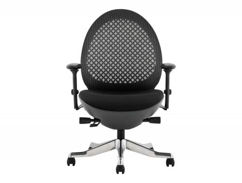 Revo Task Operator Chair Black Shell Charcoal Mesh With Arms Image 2