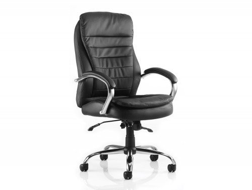 Rocky Executive Chair Black Leather High Back With Arms Featured Image