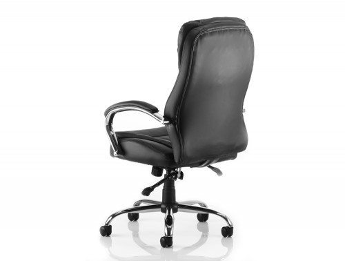 Rocky Executive Chair Black Leather High Back With Arms Image 3