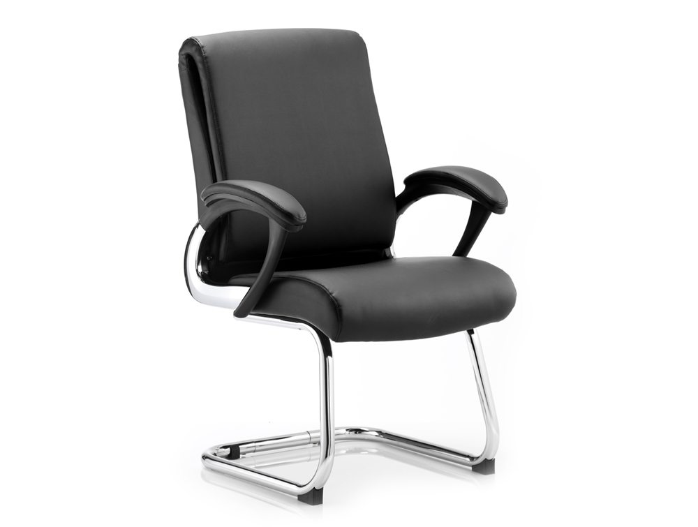 dynamo romeo cantilever meeting room chair with arms in black. Black Bedroom Furniture Sets. Home Design Ideas