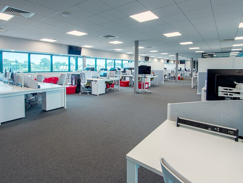 Office in white tonality