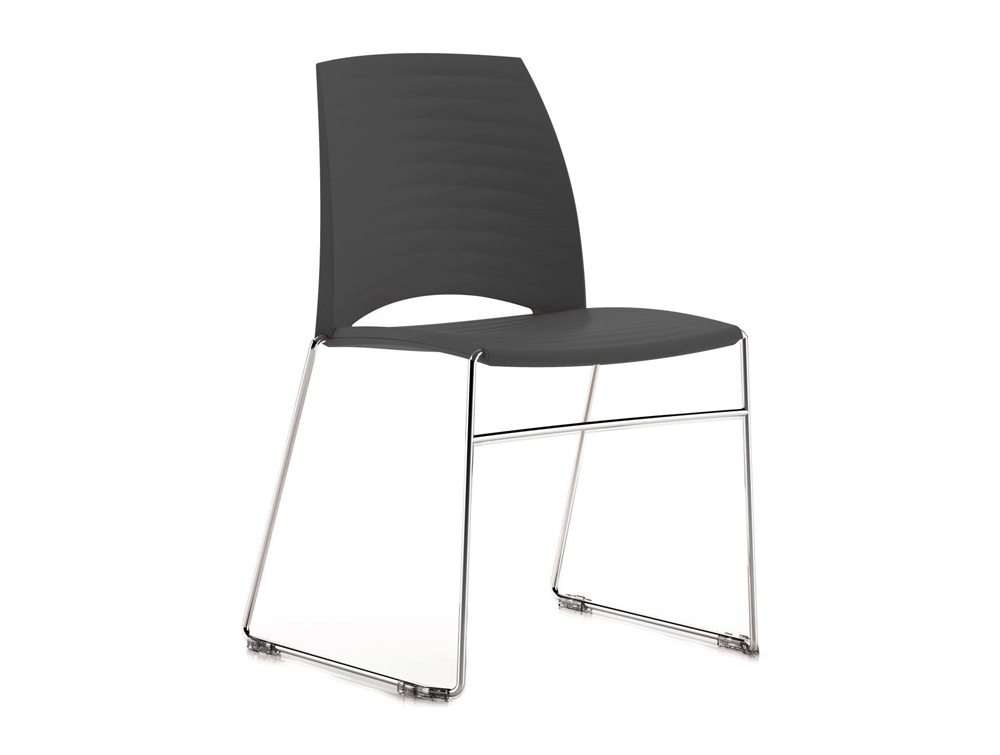 Sand Sled Stackable Conference Chair - Anthracite