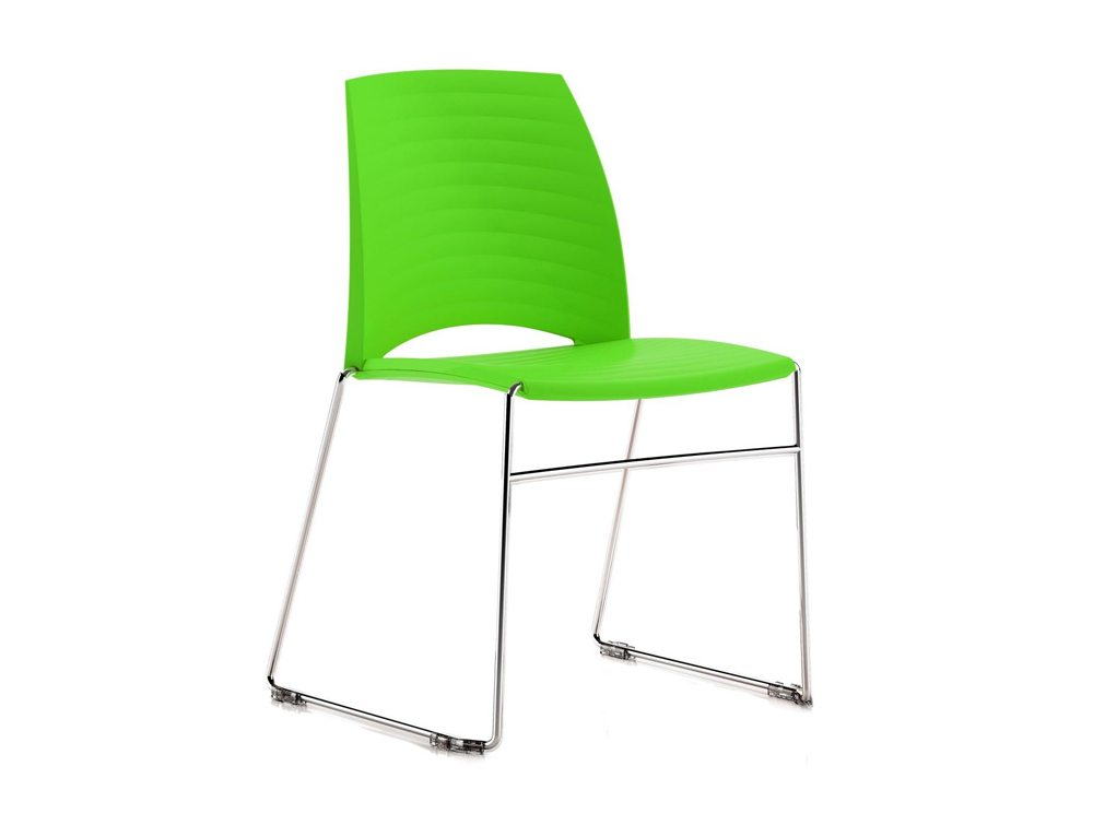 S1G Sand Sled Stackable Conference Chair in Fresh Green