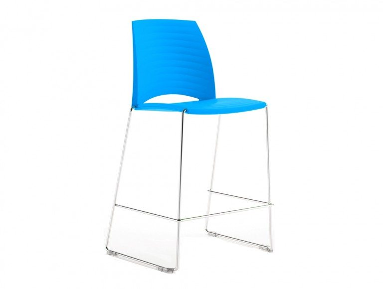 S1HSC Sand Sled Stackable Conference Stool in Cyan
