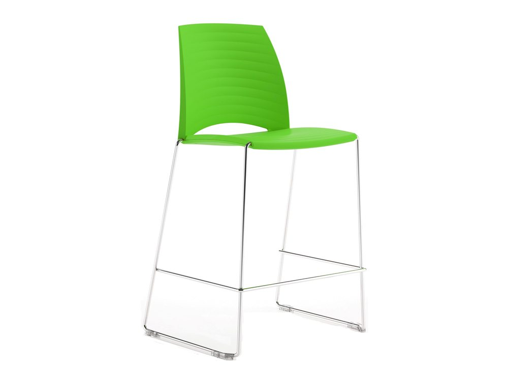 S1HSG Sand Sled Stackable Conference Stool in Fresh Green