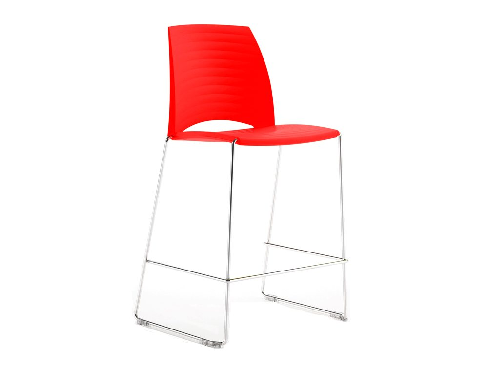 Sand Sled Stackable Conference Stool - Bright Red
